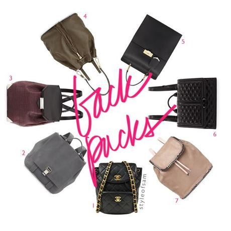 style of sam, chic backpacks