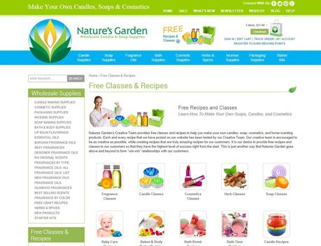 free classes and recipes page