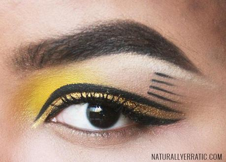 Gold Metallic Cut Crease eotd