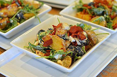 Thai Rocket Potato Salad & Blueberries