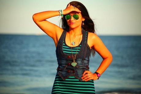 Travel Wear, Maxi Dress, Ocean City, Tanvii.com