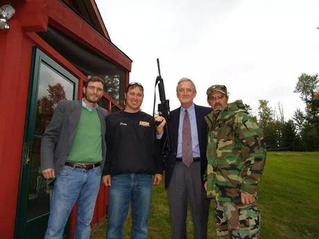Democratic Congressman Rick Nolan Poses with an Evil Black Assault Rifle