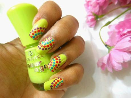 Lime Green Nails with Essence Colour & Go L.O.L (138) Nail Polish