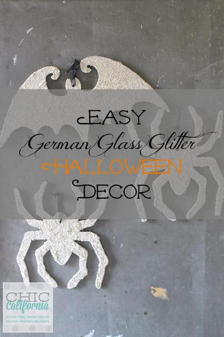 Easy German Glass Glitter Halloween Decor by Chic California
