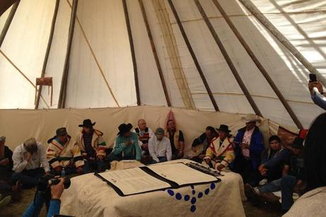 Tribal leaders sign buffalo treaty
