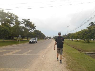 Who's that lonely backpacking traipsing through Belmopan?