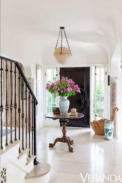 veranda white floors in foyer