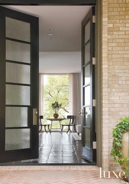 beautiful tall black interior exterior doors