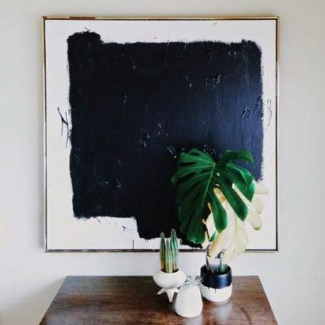 black white modern abstract art