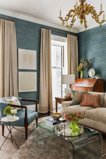 teal blue seagrass wallpaper
