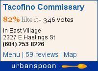 Tacofino Commissary on Urbanspoon