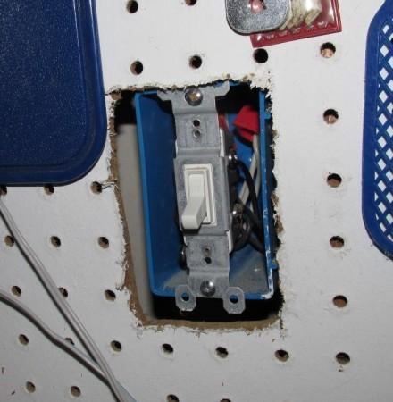 Missing cover plate at switch