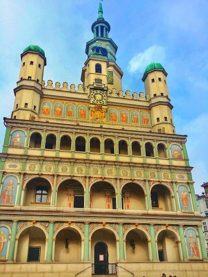 The historic Poznan Town Hall stands in the center of the square.  If you're really lucky, you may even hear a live performance from one of the top floors.