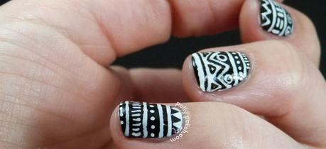 white and black nail polish