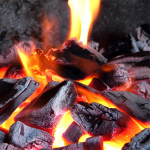 crackling firewood