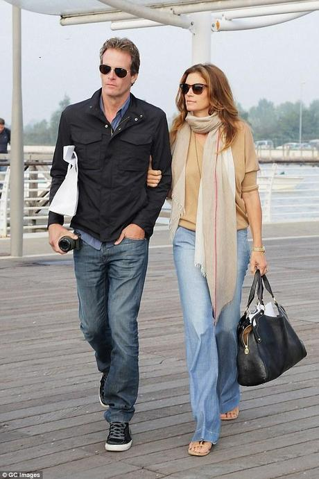 cindy crawford and husband after clooney wedding mens fashion