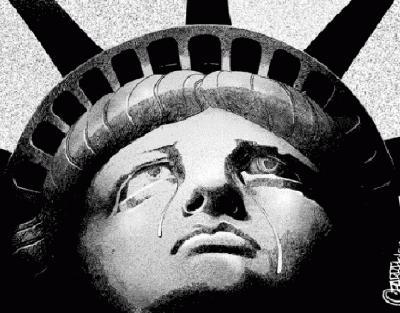 Liberty in tears
