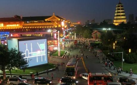 Xian Shopping near Big Wild Goose Pagoda