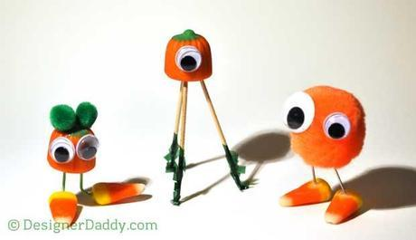 Candy Corn Crafts for Halloween - creatures of the corn