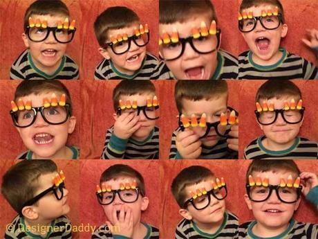Candy Corn Crafts for Halloween - corny costume glasses