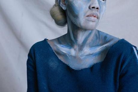 Picasso's Old Guitarist Halloween costume with make-up tutorial