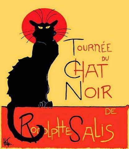 Le Chat Noir on Wood, No Less