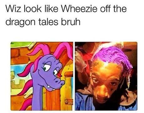 wiz khalifa decided to dye his dreads purple paperblog