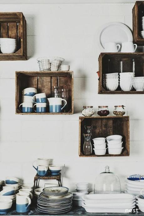creative kitchen storage ideas you can diy crates kitchen shelving