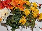 Handmade Fall Silk Flowers Arrangement Perfect Decor