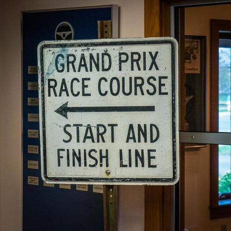 Race Sign in the International Motor Racing Research Center