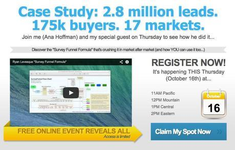 Join us for the upcoming survey funnel formula webinar