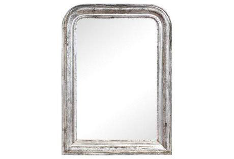 Louis Philippe-Era Silver Leaf Mirror