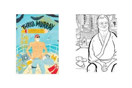 thrill murray coloring book impress them with your coffee table books - Bill Murray Coloring Book
