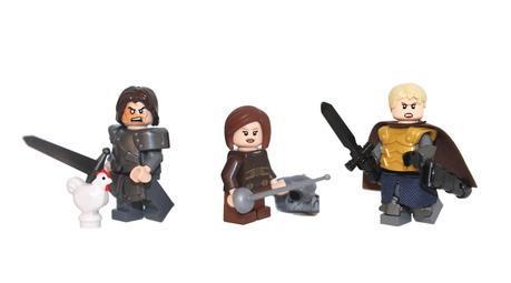 lego game of thrones, game of thrones lego, custom lego, custom lego mini figures, lego the hound, lego brine, lego arya stark, demonhunter bricks,