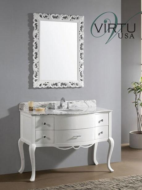 Classic Elegant White Charlotte Vanity