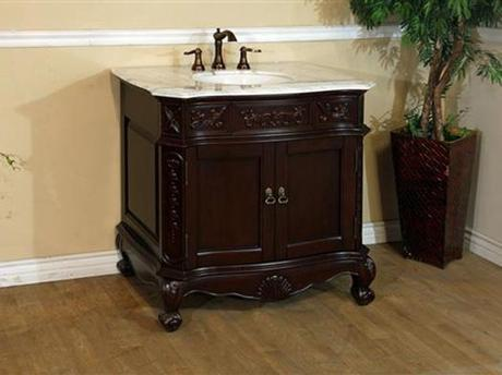 Normandy Walnut Bath Cabinet