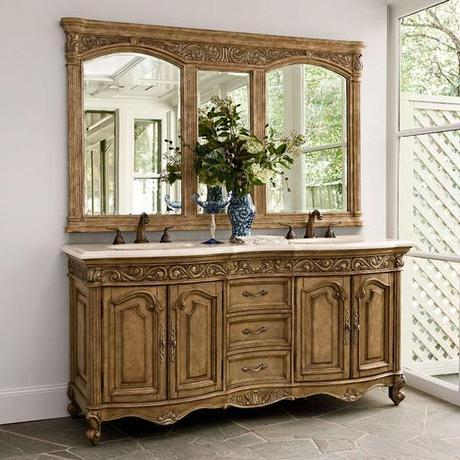 72 inch French Provincial Double Vanity Light