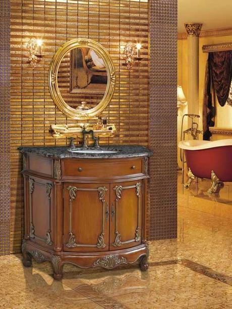 Juno Round Antique Vanity
