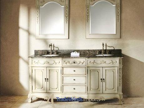 72 Inch Cream White Double Sink Vanity