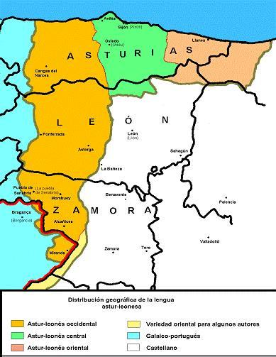 This shows the Asturian-Leonese language area at this time.