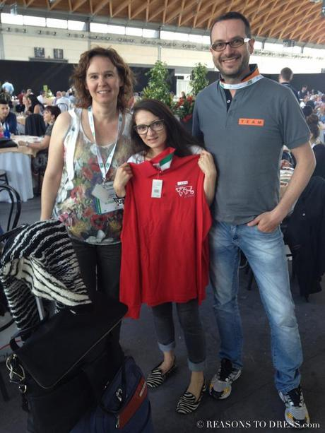 Me with Federica and Ivan fro, Avventure Viaggi, with the custom shirt they gave me!