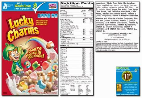 Lucky Charms With Frosted Flakes Nutrition