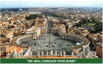 ISIS threatens to conquer Rome and break the Vatican's crosses