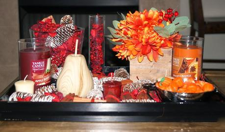 DIY Fall coffee table tray