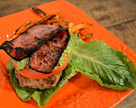 Turkey Burger Deluxe, high protein, low carb via Fitful Focus