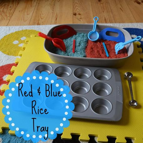 Day 13: Red and blue rice tray