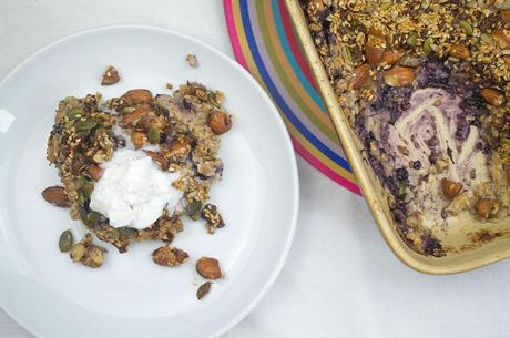 Wild Blueberry Coconut Baked Oats Crunch