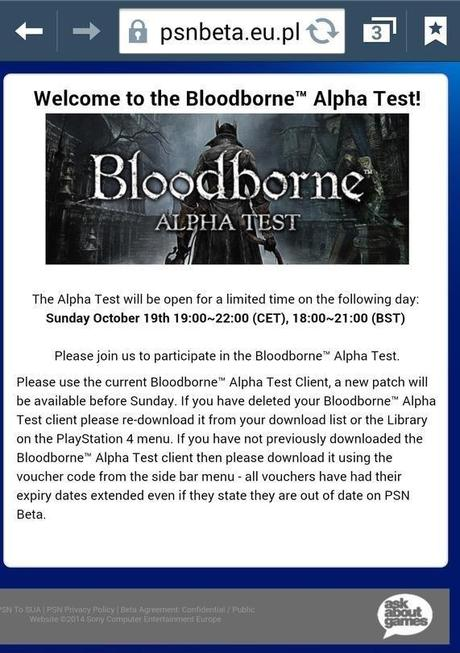 Bloodborne Alpha is coming back for one day with co-op