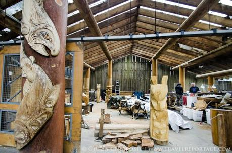 Granville Island in Vancouver - a Totem Pole workshop