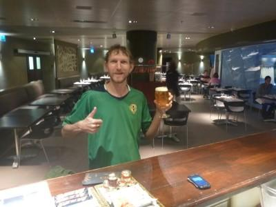 Ice cold Estrella in Caldea, Escaldes Engordany